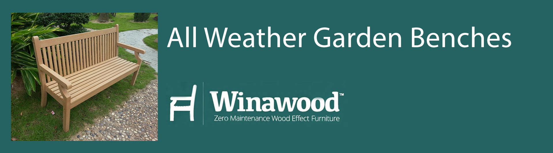 Shop our range of all weather garden benches