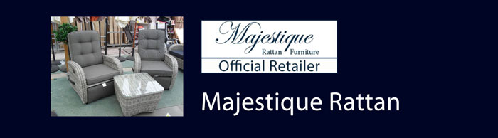 We are an official stockist of Majestique rattan furniture