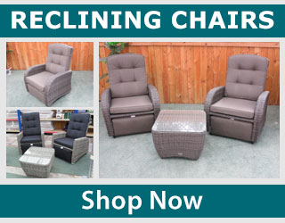 Browse our range of reclining garden chairs online