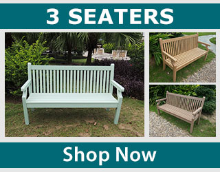 Shop three seater wood effect benches