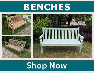 Shop wood effect composite benches