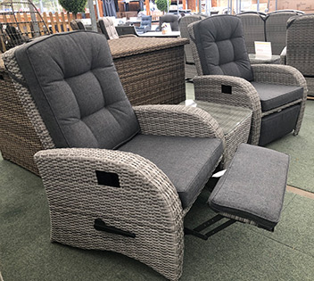 Reclining Rattan Chairs Reclining Garden Furniture Sets For Sale Uk