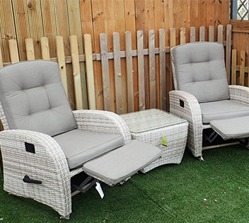 Super Reclining Rattan Chairs Reclining Garden Furniture Sets Creativecarmelina Interior Chair Design Creativecarmelinacom